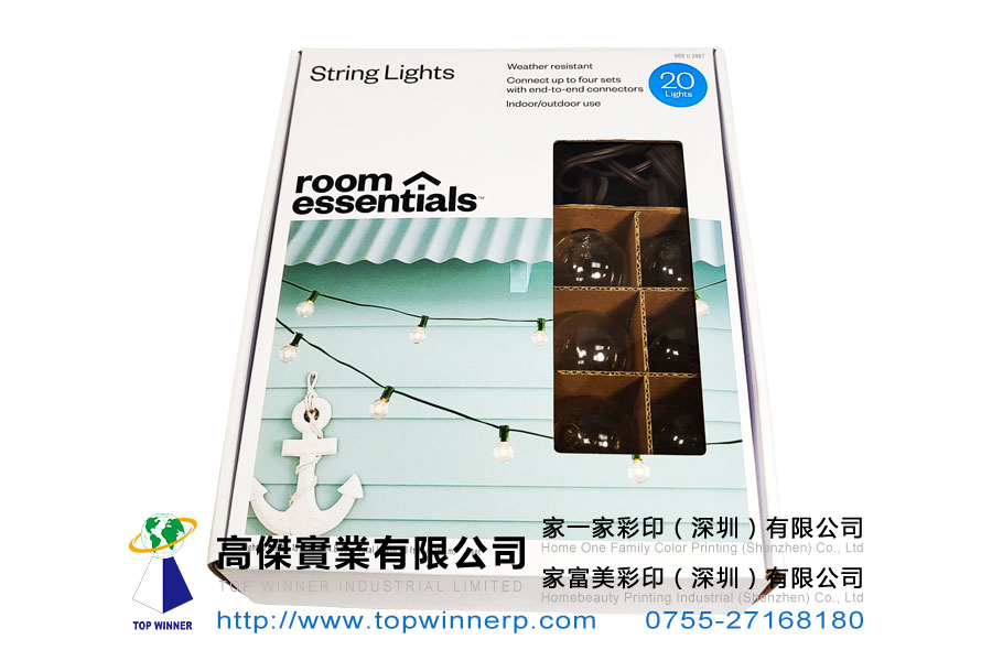 展示型开窗电灯泡彩盒